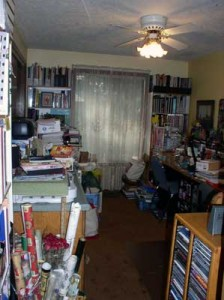 image of an unorganized studio