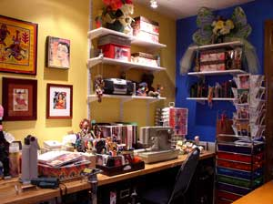 image of organized craft studio