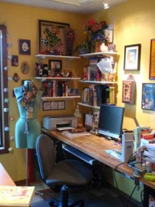 Image of an organized studio